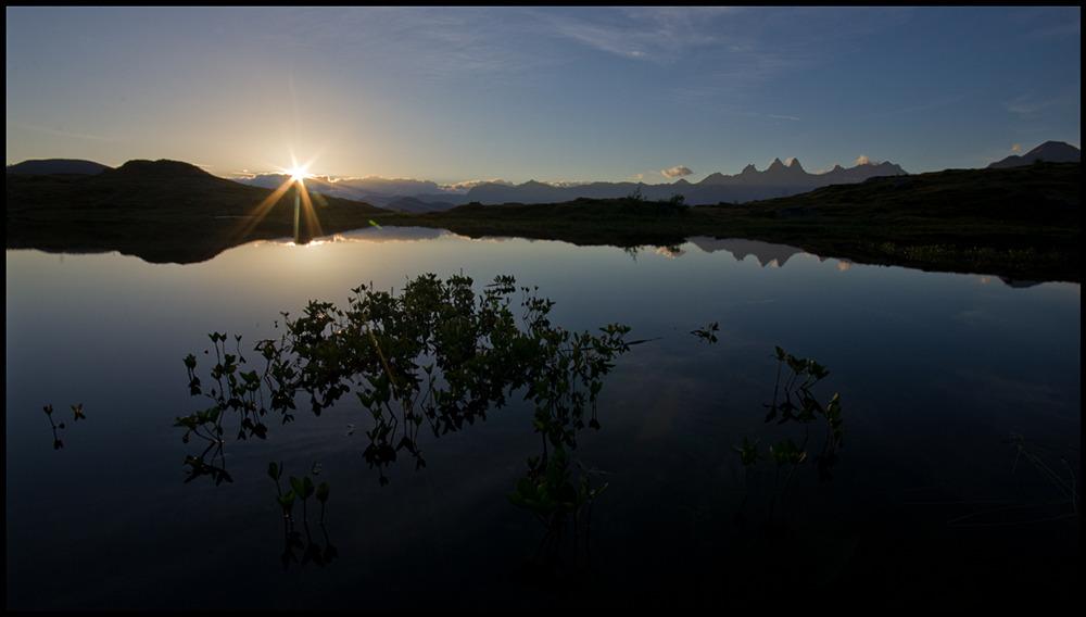 Lever soleil lac Guichard